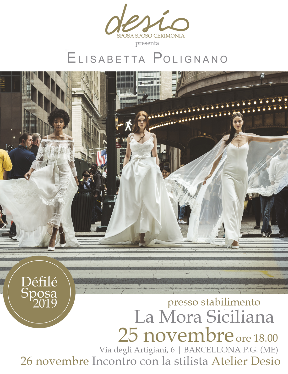 Sfilata presentazione Elisabetta Polignano 2019