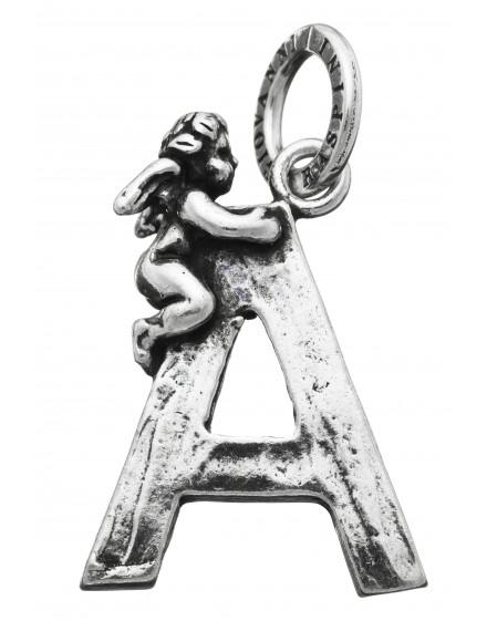 "Charm ""A"" con angelo Raspini"