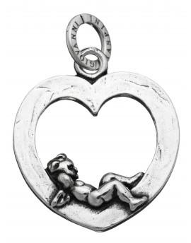 Charm cuore angelo Raspini