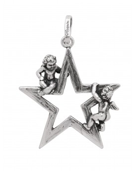 Charm angioletti con stella Raspini