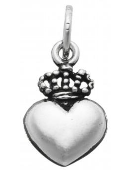 Charm cuore con corona Raspini