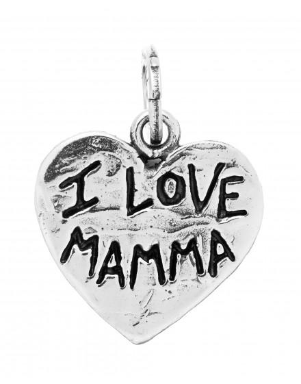 Charm cuore I Love Mamma Raspini