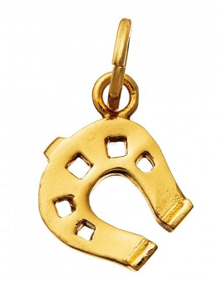 Charm portafortuna ferro di cavallo piccolo dorato Raspini