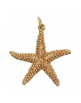 Charm stella marina dorata Raspini