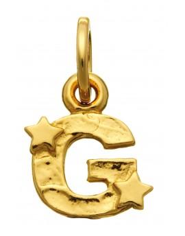 Charm lettera G dorata con stelle Raspini