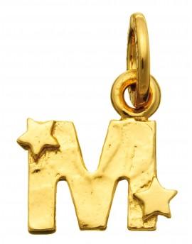 Charm lettera M dorata con stelle Raspini